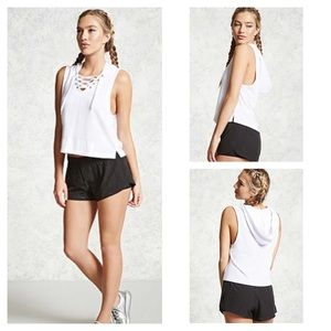 Forever 21 Active Lace-Up Boxing Hoodie
